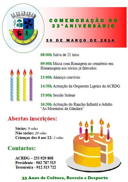 ACRDG - ANIVERSÁRIO 2014