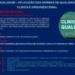 Divulgação: Ação de Formação Qualidade Clínica e Organizacional
