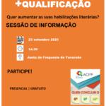 Convite Sessão + Qualificação – 23 de setembro, pelas 14h30, na Junta de Freguesia de Tavarede