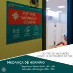 CMFF- Divulgação | Mudança horário centro de vacinação