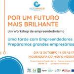 Workshop de Empreendedorismo | 12 de outubro | 14h00 às 17h00 | Incubadora do Mar & Indústria